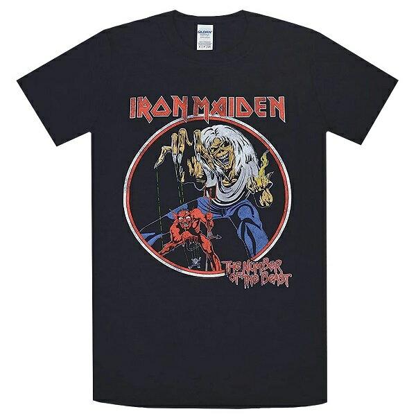 【メール便送料無料】IRON MAIDEN The Number Of The Beast Vintage Tシャツ【オフィシャル】