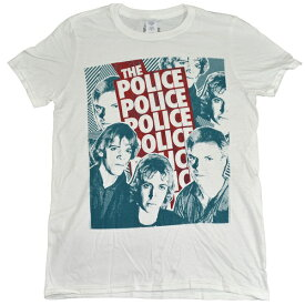 THE POLICE ポリス Halftone Faces Tシャツ