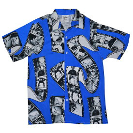 MARK GONZALES マークゴンザレス Film Photo オープンシャツ BLUE