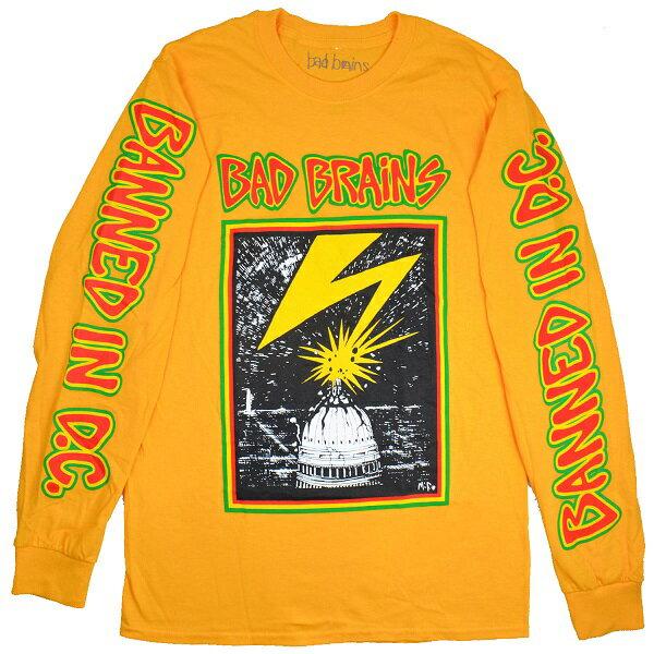 BAD BRAINS バッドブレインズ Capitol ロングスリーブ Tシャツ YELLOW