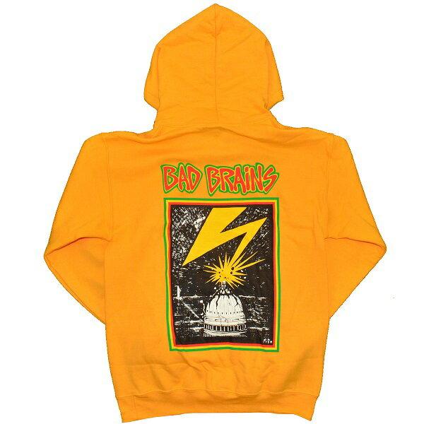 BAD BRAINS バッドブレインズ Front Logo & Capitol プルオーバー パーカー YELLOW
