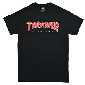 THRASHER スラッシャー Outlined Mag Logo Tシャツ BLACK USA企画