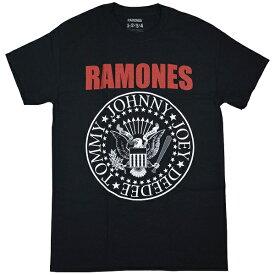 RAMONES ラモーンズ Red Text Seal Logo Tシャツ