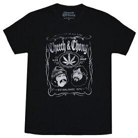 CHEECH & CHONG チーチ&チョン Whiskey Label Tシャツ