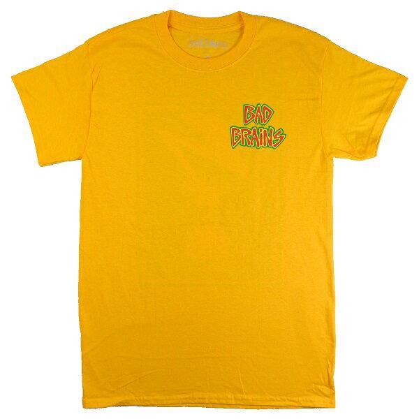 BAD BRAINS バッドブレインズ Front Logo & Capital Tシャツ BRIGHT YELLOW