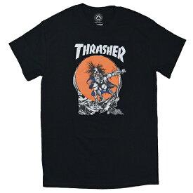 THRASHER スラッシャー SK8 Outlow Pushead Tシャツ BLACK USA企画