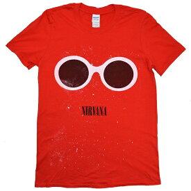 NIRVANA ニルヴァーナ Red Sunglasses Tシャツ