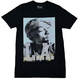 2PAC トゥーパック Tupac LA Skyline Tシャツ