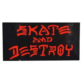 THRASHER スラッシャー Skate And Destroy ステッカー BLACK USA企画
