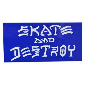 THRASHER スラッシャー Skate And Destroy ステッカー BLUE USA企画