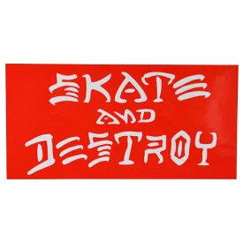 THRASHER スラッシャー Skate And Destroy ステッカー RED USA企画