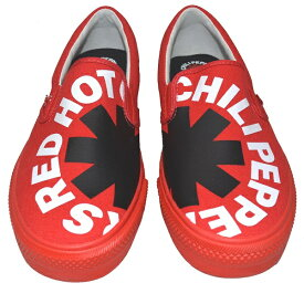 RED HOT CHILI PEPPERS × VISION STREET WEAR レッドホットチリペッパーズ × ヴィジョンストリートウェア Canvas Slip-On RHCP スリップオン RED