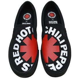 RED HOT CHILI PEPPERS × VISION STREET WEAR レッドホットチリペッパーズ × ヴィジョンストリートウェア Canvas Slip-On RHCP スリップオン BLACK