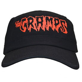 THE CRAMPS クランプス Red Logo アーミーキャップ