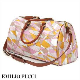 【訳あり】EMILIO PUCCI(エミリオプッチ)35BC70-26169/レディース/2WAY/ボストン/ハンドバッグ/幾何学模様/ピンク