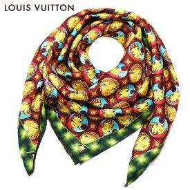 ルイヴィトン LOUIS VUITTON ルイ ヴィトン LV レディース シルク100% カレ・モザイク スカーフ Os Gemeos