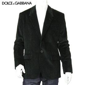 【訳あり】ドルチェ&ガッバーナ DOLCE&GABBANA ドルガバ メンズ テーラードジャケット コーデュロイ G2BZ7T FUVCY ブラック サイズ(50)
