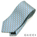 GUCCI(グッチ)/ネクタイ/GGパターン/ライトブルー/GG柄/シルク100%【ネクタイを税込3万円以上購入で送料無料!】