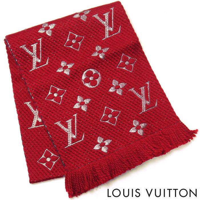 ルイヴィトン LOUIS VUITTON マフラー ルイ ヴィトン LV エシャルプ ロゴマニア シャイン レディース ストール ルイ ヴィトン M75832 ルビー 赤 レッド【数量限定】