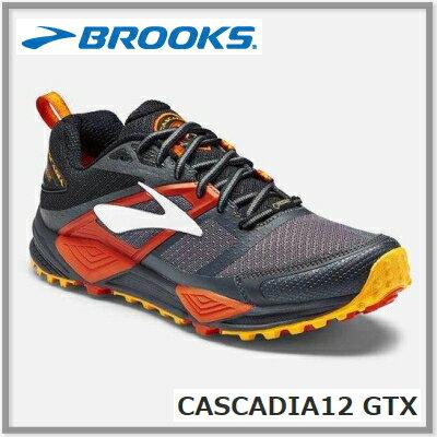 BROOKS ブルックスCASCADIA12 GTX カスケディア12 ゴアテックス メンズ 047<防水>