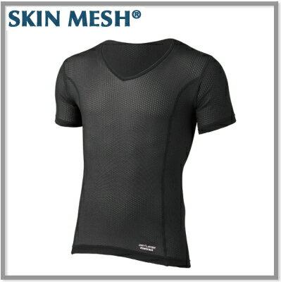 【ネコポス送料無料!】ファイントラックスキンメッシュVネックTシャツ・メンズ