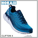 【SALE】HOKA ONE ONE ホカオネオネCLIFTON4 クリフトン4 メンズディーバ ブルー/トゥルー ブルー