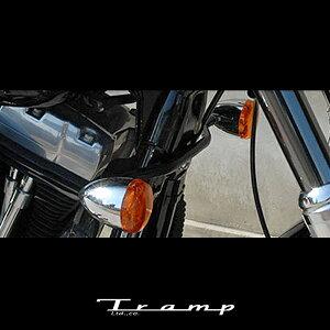 TRAMP CYCLE トランプサイクル / HD Bow Style Turn Signal Bracket カラー:ブラック、シルバー 98〜05年ダイナ用 サイズ:ステー幅220mm/268mm(ウインカーセンター間) ハーレーダビッドソン 社外品HARLEY DAVIDSON T