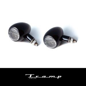 TRAMP CYCLE トランプサイクル ラウンドタイプ ターンシグナル (汎用品) 2個セット / Round Type Turn Signal Black/ブラックタイプ TOT-030B