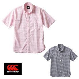 CANTERBURY S/S STRETCH GINGHAM CHECK BD SHIRT(Men's) RA38163 ショートスリーブ ストレッチ ギンガムチェック ボタンダウン シャツ(メンズ) カンタベリー