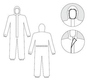【防護服/保護服】タイベックソフトウェアII型(10着)【作業服】