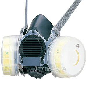 シゲマツ/重松防じんマスク取替え式防塵マスクDR80SN3-RL3Mサイズ【作業/工事/医療用/粉塵】【RCP】