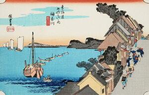 熟練職人の手作り希少浮世絵神奈川東海道五十三次歌川広重復刻版浮世絵日本のお土産に最適海外で大人気インテリア