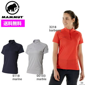 MAMMUT マムート レディース パフォーマンスドライジップ Performance Dry Zip T-Shirt Women 1017-00430 ■アウトドア 登山 Tシャツ クライミング 吸汗速乾 半袖 ウィメンズ 女性