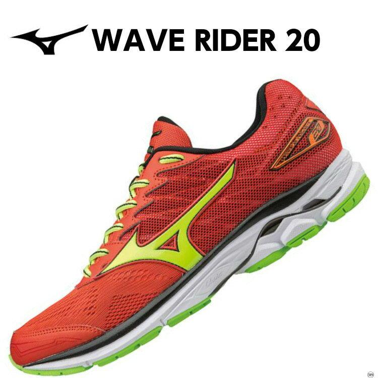 ミズノ MIZUNO ウエーブライダー 20 WAVE RIDER 20 ランニングシューズ J1GC1703 47 ■メンズ 男性 クッション フィットネス サブ5 トレーニング レッド 赤
