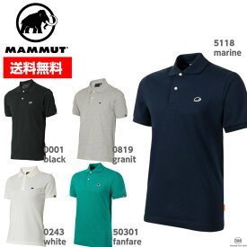 MAMMUT マムート ポロシャツ MATRIX PORO SHIRT マトリックス ポロシャツ 1017-00400 メンズ■アウトドア 登山 半袖 黒 赤 白 紺 グレー