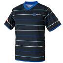 【andro】アンドロ 302801 ルミナス [ブラック×ブルー]男女兼用(ヨーロッパサイズ)【卓球用品】ゲームシャツ/卓球ユ…
