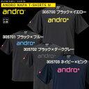 ★即納/あす楽★【andro】アンドロ ナパTシャツ4 [×ダークカラー]JTTAマーク入り卓球用ゲームシャツ/卓球ユニフォー…