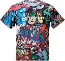 ★即納/あす楽★【andro】アンドロ 302806 フルデザインシャツB+ 男女兼用(ヨーロッパサイズ)Tシャツタイプ【卓球用品…