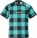 【andro】アンドロ 305714 シェパード [グリーン]男女兼用(ヨーロッパサイズ)【卓球用品】ゲームシャツ/卓球ユニフォ…