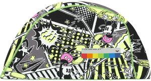 【ARENA】アリーナ DIS0361-BLK タフキャップ[ブラック(BLK)] [スイミングキャップ/帽子/水泳帽/練習/プラクティス/水泳/水球/競泳/部活動/クラブ活動/ディズニーシリーズ]【RCP】