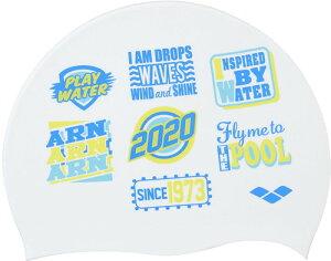 【ARENA】アリーナ FAR0903-WHT シリコンキャップ[ホワイト(WHT)] [スイミングキャップ/帽子/水泳帽/練習/プラクティス/水泳/水球/競泳/部活動/クラブ活動]【RCP】