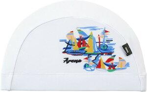 【ARENA】アリーナ FAR0922-WHT テキスタイルキャップ[ホワイト(WHT)] [スイミングキャップ/帽子/水泳帽/練習/プラクティス/水泳/水球/競泳/部活動/クラブ活動]【RCP】
