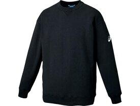 【asics】アシックス XB6010-90 スウェットシャツ[ブラック(ブラック)] [防寒着/長袖/私服/カジュアル/大きいサイズ] 【RCP】[hz]