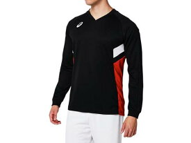 【asics】アシックス 2053A050-001 長袖ゲームシャツ [Pブラック×レッド] 【バレーボール/スポーツウェア/ウエア/長袖/ロングスリーブ】 【RCP】