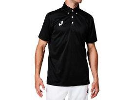 【asics】アシックス 2031A682-001 OPボタンダウンポロシャツ[Pブラック(パフォーマンスブラック)] [半袖シャツ/練習着/ワンポイント/ウォーキング/卓球/テニス/サッカー/メンズ/ユニセックス/男女兼用] 【RCP】[hz]