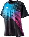 【Butterfly】バタフライ 45660-712 FRIPLE T-SHIRT フリプル・Tシャツ 男女兼用 [マリン/ロゼ] 【卓球用品】トレーニングシャツ/卓球卓球ゲームシャツ/ ユニフォーム