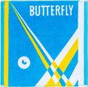 【Butterfly】バタフライ 76400-174 ネオラリー・ハンドタオル [スカイ]【卓球用品】卓球用タオル/バンド類【RCP】