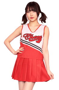 ◆【TG フレッシュチアガール BOX】赤のロゴが目を引くチアガール!プリーツスカートはウエストゴムで楽チンです。【キャラクターレプリカ】【コスプレ用品】【RCP】