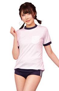◆【TG きらきら体操服 BOX】白×紺の懐かしの体操服!パンツの白いラインが足をスッキリ見せてくれます。ブルマ付きでお得な3点セットです。【キャラクターレプリカ】【コスプレ用品】【