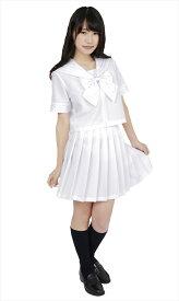 ◆【カラーセーラー 白4L】幅広い場面で着ていただけるカラーセーラーです。赤、紺、ピンク、黄色、緑、紫、紺x紺、白、黒の9 色展開で、欲しい色が必ず見つかります♪【女子高生制服/女子高生/制服/セーラー服系】【コスプレ用品】【RCP】